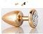 Plug Anal Less P Dourado Com Pedra Cravejada Cromada Prata HA143DC - Imagem 1