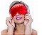 Venda Tapa Olhos Pimenta Sexy  Cor  Vermelha - Imagem 2