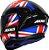 AXXIS DRAKEN UK GLOSS BLACK/RED/BLUE - Imagem 2