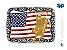 Fivela Touro Bandeira EUA Sumetal 9428F - Imagem 1