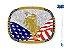 Fivela Bandeira Eua Sumetal 10572F - Imagem 1
