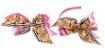 Kit Tiara e Laço Rosa Urso Xadrez - Imagem 1