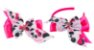 Kit Tiara e Laço Rosa Pink Urso Panda - Imagem 1