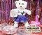 Urso Pelo Alto Branco Flocos de Neve - Imagem 3