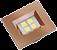 Luminaria Retangular 35mm 40X46 4 Leds - Luz Quente - COBRE - Imagem 1
