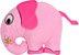 Almofada infantil animais da floresta, elefante rosa - Imagem 1