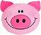 Almofada infantil bichinhos, Porquinho feliz - Imagem 1