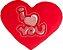 Almofada coração I love You M - Imagem 1