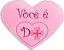 Almofada coração Você é D+ Médio - Imagem 1