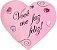 Almofada coração Você me faz feliz Médio - Imagem 1
