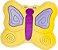 Almofada borboleta amarela - Imagem 1