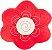 Almofada flor vermelha - Imagem 1