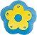 Almofada flor azul com amarelo - Imagem 1
