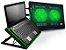 Cooler Para Notebook Warrior Power Gamer Led Verde AC267 - Imagem 1