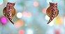 Brinco Dourado com Cristais Swarovisk Rosa - Imagem 1