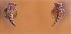 Brinco Dourado com Cristais Swarovisk Rosa - Imagem 5