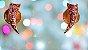 Brinco Dourado com Cristais Swarovisk Rosa - Imagem 8