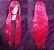 Peruca Rosa Choque Lisa - 100cm - Resistente ao Calor - Imagem 1