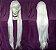 Peruca Branca Lisa - 100cm - Resistente ao Calor - Imagem 1