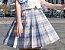 Saia Colegial Xadrez - Azul Claro - Imagem 2