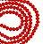 Fio de cristal facetado vermelho - 6mm - Imagem 1