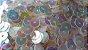 Paetê branco furta-cor - 6 mm (pacote com 50g) - Imagem 1