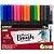 Caneta Pincel Brush 2-4mm Newpen Kit Com 16 Unidades Blender - Imagem 1