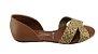 Sandalia Rasteira  Confort Flat 1834.433 Cores - Preto/camel - Imagem 1