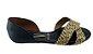Sandalia Rasteira  Confort Flat 1834.433 Cores - Preto/camel - Imagem 2