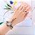 Compre 1 e Leve 2- Kit Relógio Quartz Pedra e Strass + Anel Strass - 6 Cores - Frete Grátis - Imagem 10