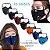 Máscara 3D com Filtro de Carvão - Viseira Removível - Não embaça - 8 Cores - Frete Grátis - Imagem 1