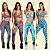 -Modaluna-: Kit com 4 Conjuntos Calça Legging + Top com Bojo - Moda Fitness - Imagem 1