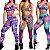 -Modaluna-: Kit com 4 Conjuntos Calça Legging + Top com Bojo - Moda Fitness - Imagem 2