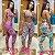 -Modaluna-: Kit com 4 Conjuntos Calça Legging + Top com Bojo - Moda Fitness - Imagem 6