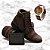 -Men Shoes-: Kit 2 Pares de Botas Coturno JDK + Carteira + Relógio - 2 Cores - Até 44 - Imagem 1