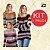 -Evangelys-: Kit com 3 Blusas em Tricô Listradas - Cores Variadas - Tamanho Único (P até G) - Imagem 1