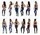 -Skynetshop-: Kit com 3 Conjuntos Calça Legging + Top - Cores Variadas - Até GG  - Imagem 5
