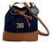 Kit com 3 Bolsas Saco Jeans Pequenas - Alça Transversal - Bolso Traseiro - Detalhes em Couro - 4 Cores  - Imagem 2