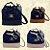 Kit com 3 Bolsas Saco Jeans Pequenas - Alça Transversal - Bolso Traseiro - Detalhes em Couro - 4 Cores  - Imagem 1