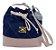 Kit com 3 Bolsas Saco Jeans Pequenas - Alça Transversal - Bolso Traseiro - Detalhes em Couro - 4 Cores  - Imagem 3
