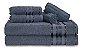 Kit com 6 Toalhas: 2 de Banho Gigante 80x180cm -  2 de Rosto - 2 de Piso - 100% Algodao - Imagem 4