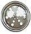 Grelha Redonda com Caixilho 10cm de Inox - Imagem 1
