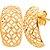 Brinco Estampado Vazado Ouro 18k 750 - Imagem 1