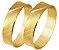 Aliança Filete Diamantada Ouro 18k 750  (Cada) - Imagem 1