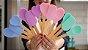 Kit 3pcs, Espátula, Colher e Colher coração de Silicone Rosa - Imagem 2