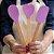 Kit 3pcs, Espátula, Colher e Colher coração de Silicone Roxo - Imagem 1