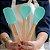 Kit 3pcs, Espátula, Colher e Colher coração de Silicone Verde - Imagem 1