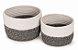 Cesto algodão Cachepot vaso guarda objetos Conjunto 2 Unid. - Imagem 1