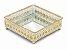 Bandeja grega luxo Espelhada Quadrada Sala Lavabo16x16 cm - Imagem 2