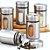 Porta Condimentos Tempero em Vidro e Inox c/ Regulação - Imagem 2